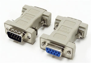 Null Modem Adapter, DB9 Male to DB9 Female