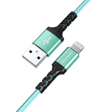 Apple C89 MFi Certified - Lightning to USB Braided Cable with Aluminum Housing, 4 Ft Green