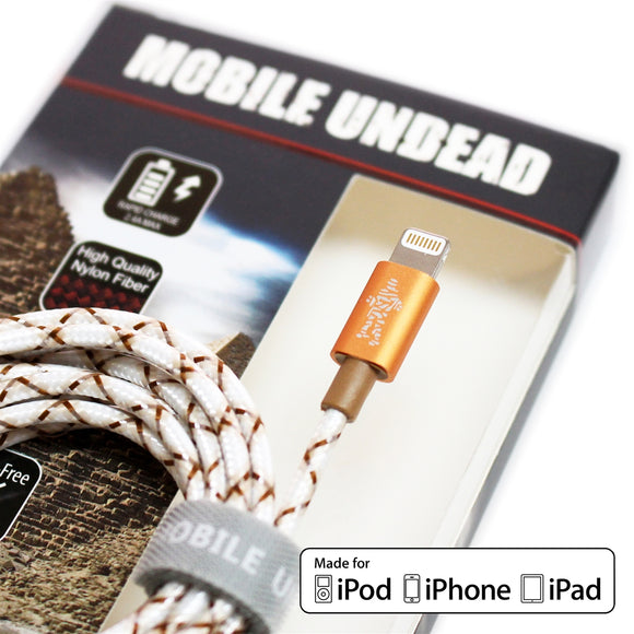 Mobile Undead - Apple MFi Certified - Lightning to USB Mummy Cable, 5 Feet