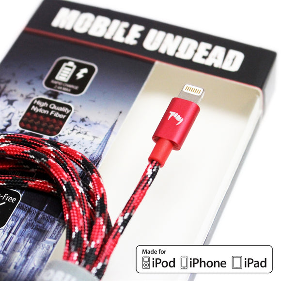 Mobile Undead - Apple MFi Certified - Lightning to USB Vampire Cable, 5 Feet