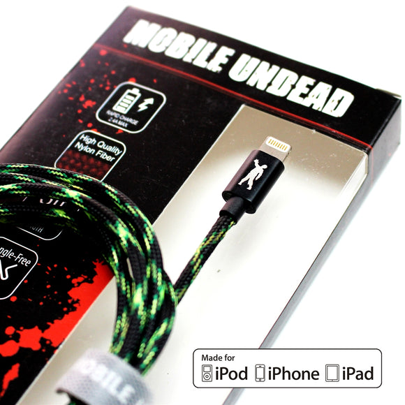 Mobile Undead - Apple MFi Certified - Lightning to USB Zombie Cable, 5 Feet