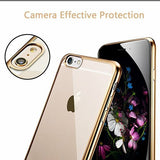 iPhone 6-6s Ultra Thin Soft Gel TPU Silicone Case with Electroplating Technology, Gold