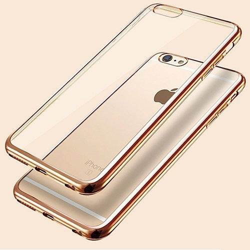 iPhone 6 Plus-6s Plus Ultra Thin Soft Gel TPU Silicone Case with Electroplating Technology, Gold