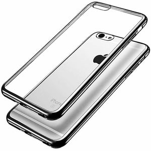 iPhone 6 Plus-6s Plus Ultra Thin Soft Gel TPU Silicone Case with Electroplating Technology, Gray