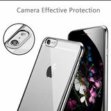 iPhone 6 Plus-6s Plus Ultra Thin Soft Gel TPU Silicone Case with Electroplating Technology, Silver
