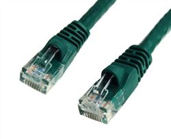 CAT5E 350MHz 24 AWG UTP Bare Copper Ethernet Network Cable, Molded Green 75 FT