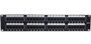 CAT6 Patch Panel, 48-Port, 110 Type, 568A-568B Installation
