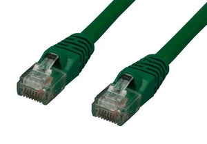 CAT6 550MHz 24 AWG UTP Bare Copper Ethernet Network Cable, Molded Green 1 FT