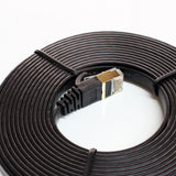 CAT-7 10 Gigabit Ultra Flat Ethernet Patch Cable, 12 Feet Black