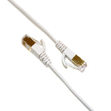 CAT-7 10 Gigabit Ultra Flat Ethernet Patch Cable, 12 Feet White