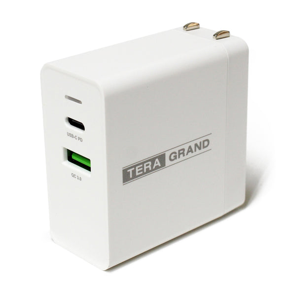 36W USB-C Wall Charger with 18W USB-C Power Delivery Port and 18W QC3.0 USB-A Port