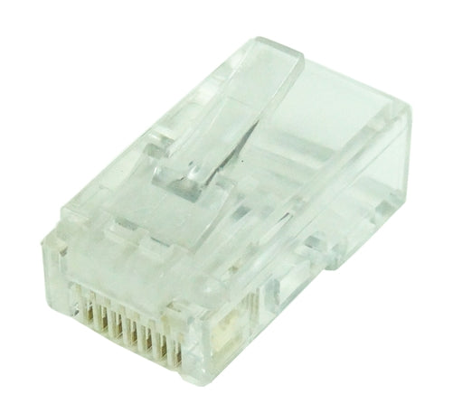 CAT6 Modular Plug, Solid wire w- Insert, 50u, 100 pcs-Pack