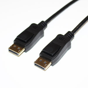 DisplayPort 1.4 Male to Male Cable with Latch, VESA Certified, 3 ft