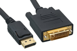 Display Port to DVI Cable, 6 Feet