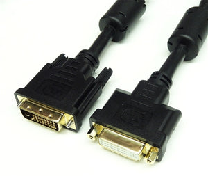 DVI-D Dual Link Male to Female Cable, 6'