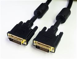 DVI-D Dual Link Male to Male Cable, 3'