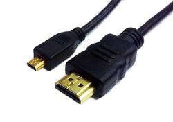 HDMI A Male to Micro HDMI type D Cable with Ethernet, 15'