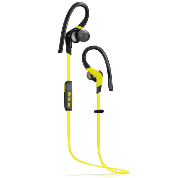 Bluetooth 4.1 Wireless Sport Headphones, Stereo In-ear Noise Cancelling Sweatproof Headsets, Microphone, Yellow