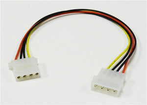 5.25 Male to 5.25 Female Internal DC Extension Cable, 12""