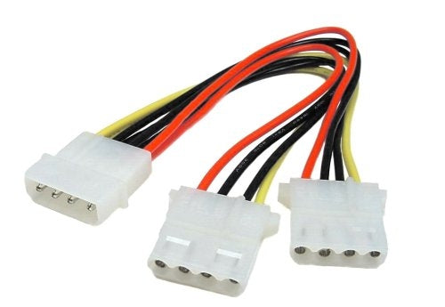 5.25 Male to 5.25 Female x2 Internal DC Y Cable, 8