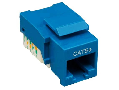 Category 5E Tool-less Keystone Jack, Blue