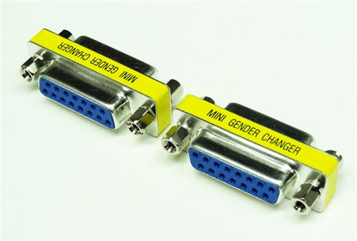 MINI GENDER CHANGER, DB15 F-F (This item can NOT be used with VGA connector & VGA cable.)