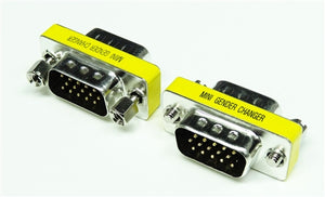 MINI GENDER CHANGER, HDB15 M-M (This item is used with VGA connector & VGA cable.)