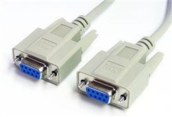 Null Modem Cable, DB9 Female to Female, 25'