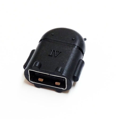 USB OTG Adapter, Micro USB OTG to USB A Female Adapter, Black - USB On The Go Adapter for Android OTG Compatible Devices