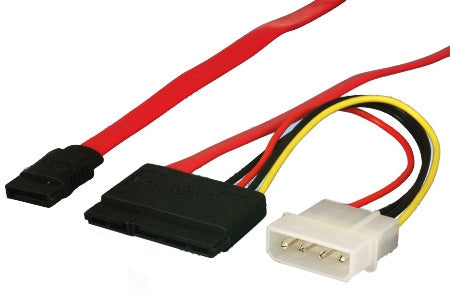 SATA Device Cable with 15 Pin Power Adapter