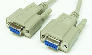 RS-232 Serial Cable, DB9 Female to DB9 Female, 6'