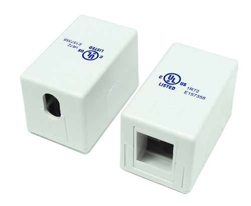 1 Port RJ45 Surface Mount Box, White