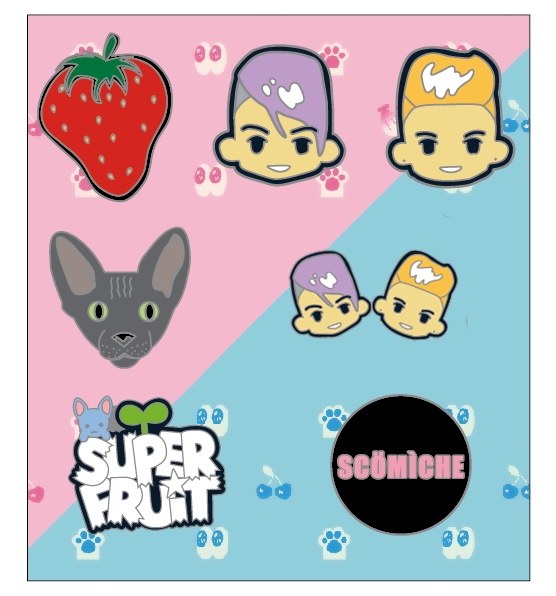 Sup3rfruit Lapel Pin Set