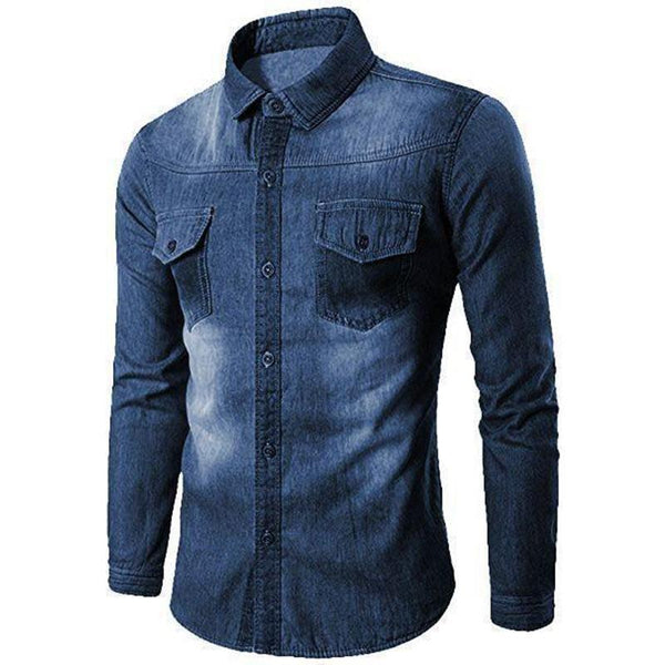 Combo Of 3 Men's Denim Casual Solid Shirts