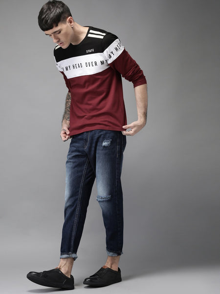 COMBO OF 3 PC`S MEN`S ROUND NECK T-SHIRT