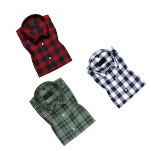 Pack of 3 Casual Checked Shirts For Men