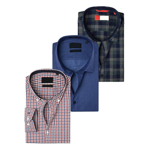 Combo of 3 Men's Slim Fit Casual Shirts