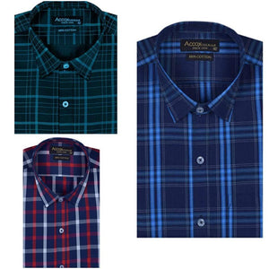 Checkered style combo shirt pack of 3
