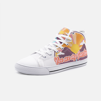 You are My Sunshine - Unisex High Top Canvas Shoes