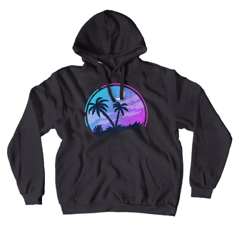 Tropical Night Men's Hoodie (No-Zip/Pullover)
