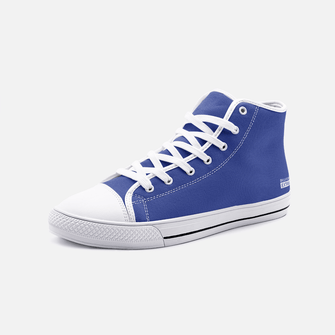 Navy Unisex High Top Canvas Shoes