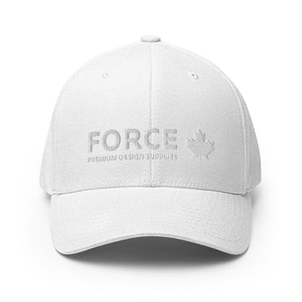 FORCE Structured Twill 3D Puff Embroidery Baseball Cap - Black & White
