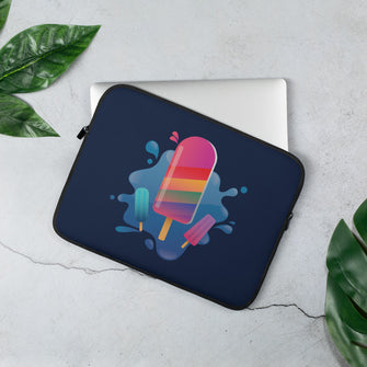 Rainbow Popsicle Splashed! Laptop Sleeve