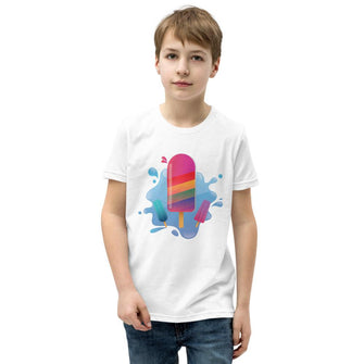 Rainbow Popsicle Splashed! - Kids T-Shirt - Merch by Billyforce