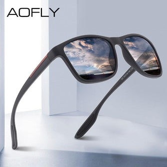 AOFLY DESIGN Ultralight TR90 Polarized Sunglasses UV400 for Men
