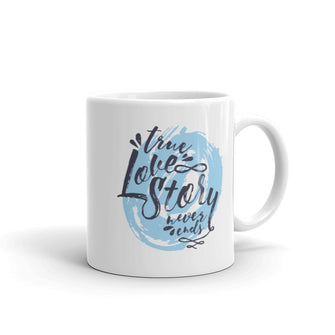 True Love Story Never Ends Graphic Mug