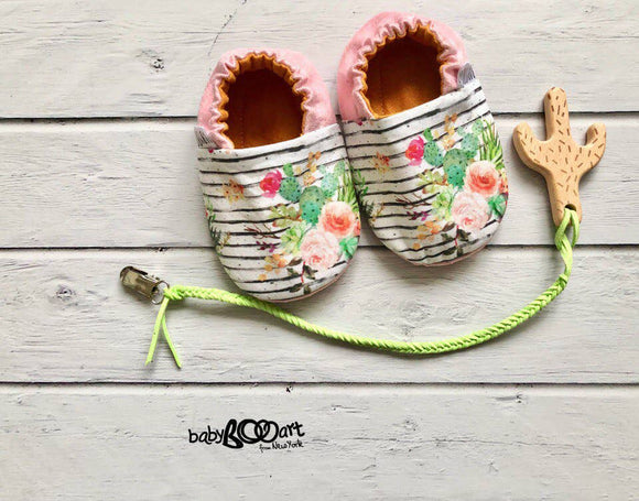 Cactus Print Baby Moccasins