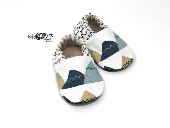 Mountain Print Baby Moccasins