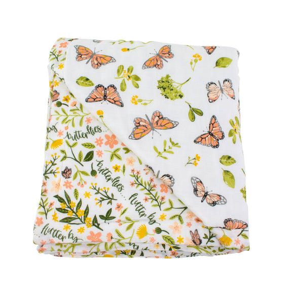 Butterfly+Flutterby Oh-So-Soft Muslin Snuggle Blanket