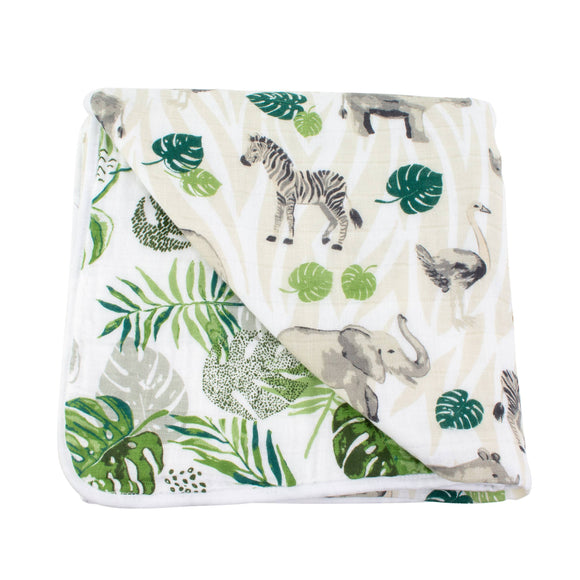 Jungle + Rainforest Classic Muslin Snuggle Blanket